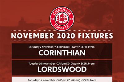 November Fixtures 2020
